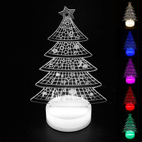 tabletop christmas tree with led lights aliexpress buy tree lights indoor 3d led l acrylic table l usb light