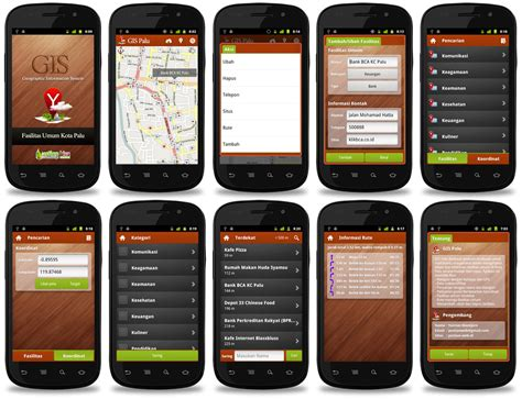 layout design for mobile application ygis palu android 2 3 apps interface design by