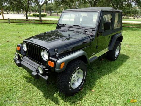 2000 jeep black black 2000 jeep wrangler sport 4x4 exterior photo