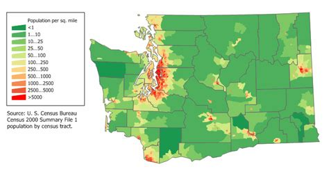 oregon population density map washington state