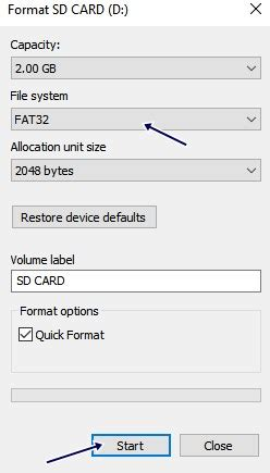format fat32 sd card android what to do when android is unable to format an sd card