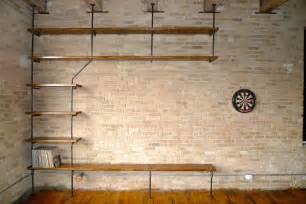 Copper Pipe Bookshelf Design Dichotomy Pipe Shelving
