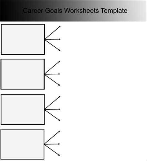 career template 9 goal sheet templates free pdf word excel formats