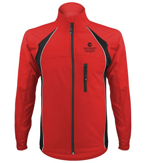 red cycling jacket big man s windproof thermal softshell cycling jacket
