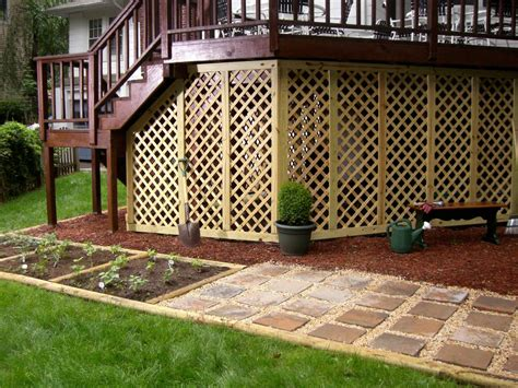 home designer pro lattice adding lattice to the bottom of a deck hgtv