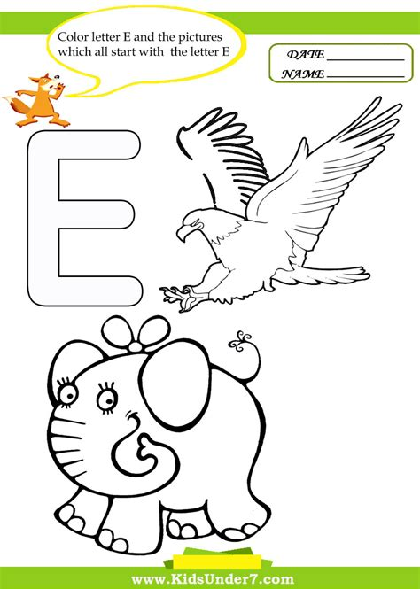 color starts with e free coloring pages of words starting with k