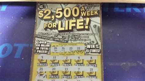 How To Win Money On Scratch Offs - huge win illinois lottery quot 2500 a week for life quot scratch off youtube