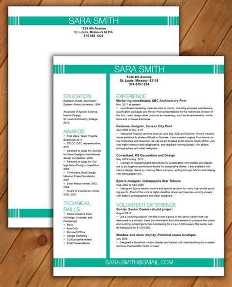 eye catching word resume design at rbdesign 178 i will work with you to create a professional