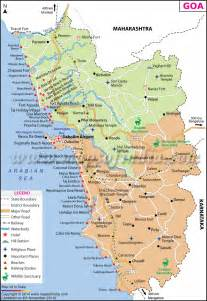 Goa India Map by Complete Goa India Road Map For Tourists
