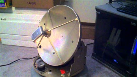 tracking satellite dish manually controlled