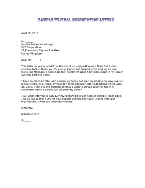 resignation letter format fantastic best resignation letter template guides the best