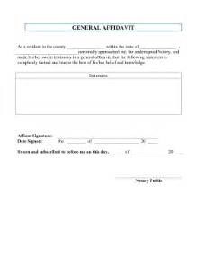General Affidavit Template by Printable General Affidavit Pleading Template