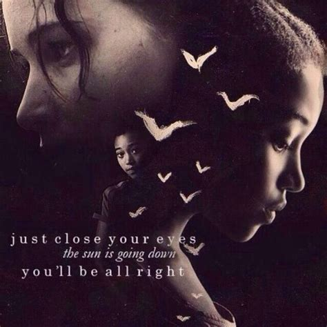 rue and katniss quotes quotesgram