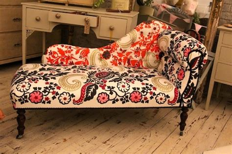 www upholstery com small vintage chaise re upholstered in designer guild