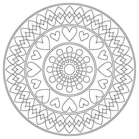 mandala coloring pages hearts hearts mandala mandalas pinterest