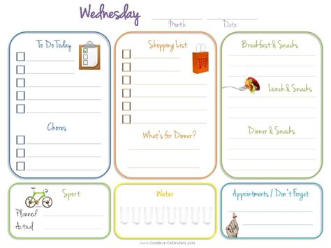 todays daily calendar template daily planner template