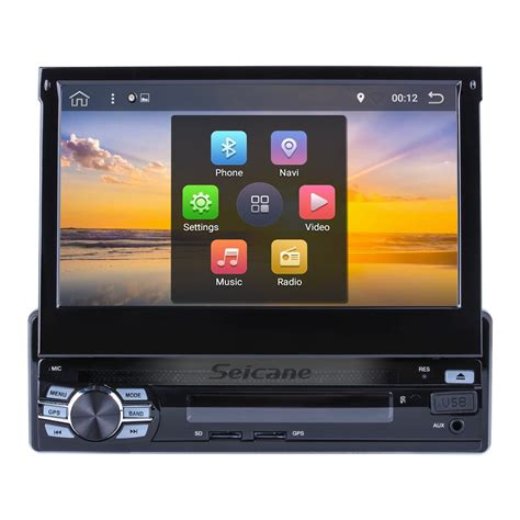 android dvd player 7 inch 1 din universal hd touch screen android 6 0 car stereo dvd player gps navigation system