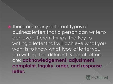 Different Kinds Of Business Letter According To Purpose quot there are many different types of