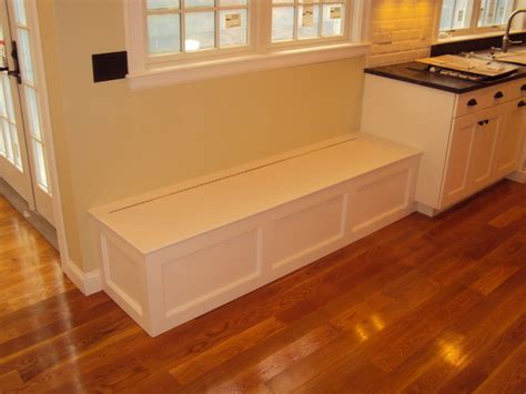 built in bench in kitchen built in bench wellesley ma traditional kitchen