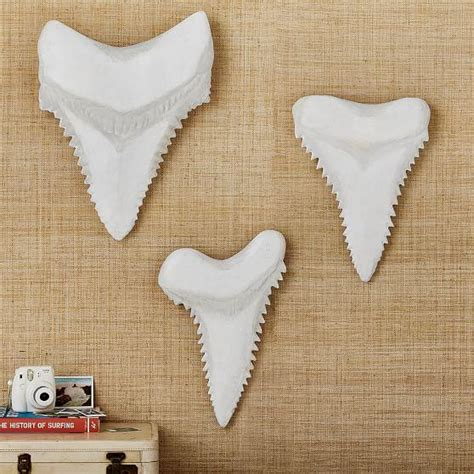 paper mache ideas for home decor white paper mache shark teeth wall decor