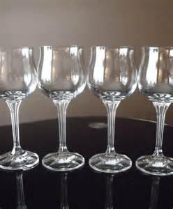 Glassware Stemware Vintage Wine Glasses Bohemian Made In