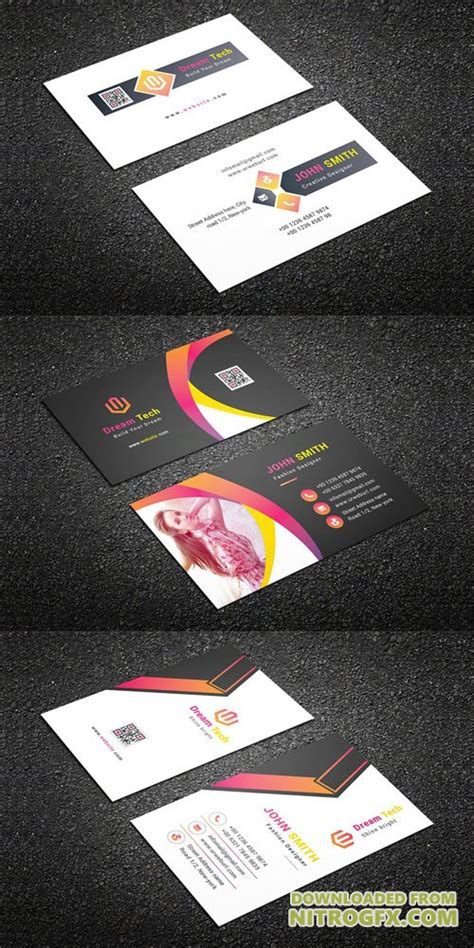 3x2 Business Card Template by Business Cards 187 Nitrogfx Unique Graphics For
