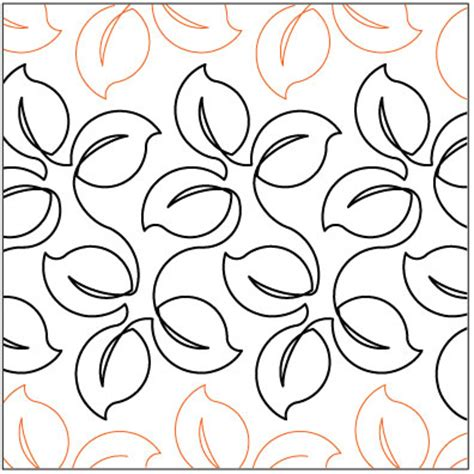 Quilt Pantograph by Lush Leaves Quilting Pantograph Pattern By Lorien Quilting