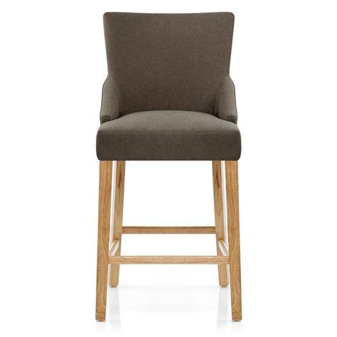 chaise de bar tissu bois magna monde du tabouret