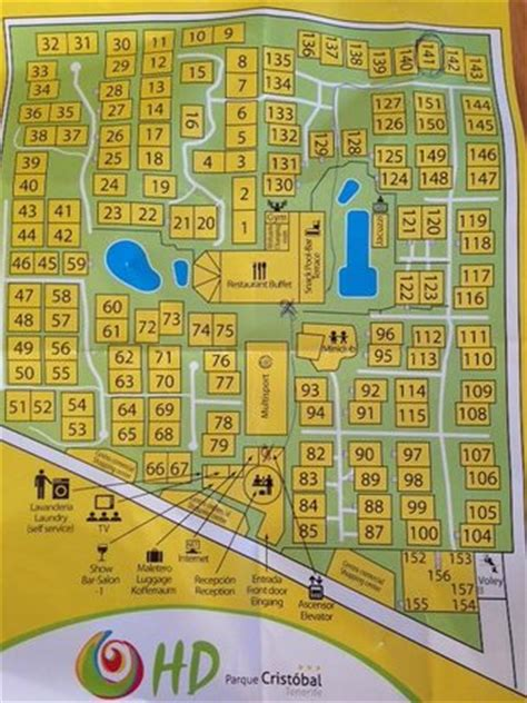 hd resort map map of the area picture of hd parque cristobal tenerife