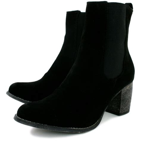 buy athena block heel chelsea ankle boots black