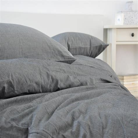 gray linen bedding grey washed linen duvet cover king size bed linen french