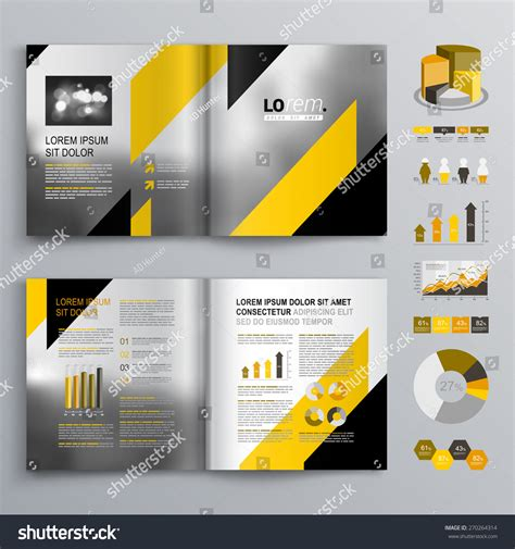 black brochure template classic gray brochure template design black lager vektor