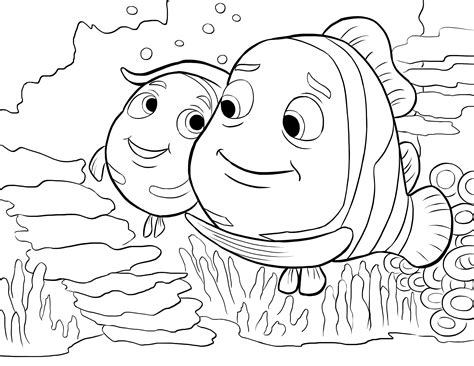 pictures nemo coloring pages nemo goggles coloring page coloring pages