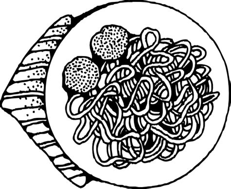 spaghetti and meatballs clip art at clker com vector