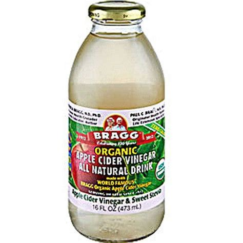 Dr Oz Detox Drink Apple Cider Vinegar by Bragg Apple Cider Vinegar With Sweet Stevia 12x16 Oz