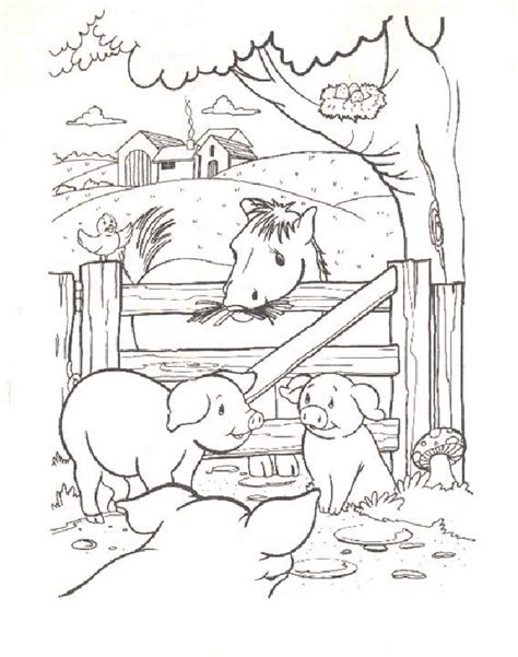 farm pig coloring page farm color pages farm coloring pages for kids barn