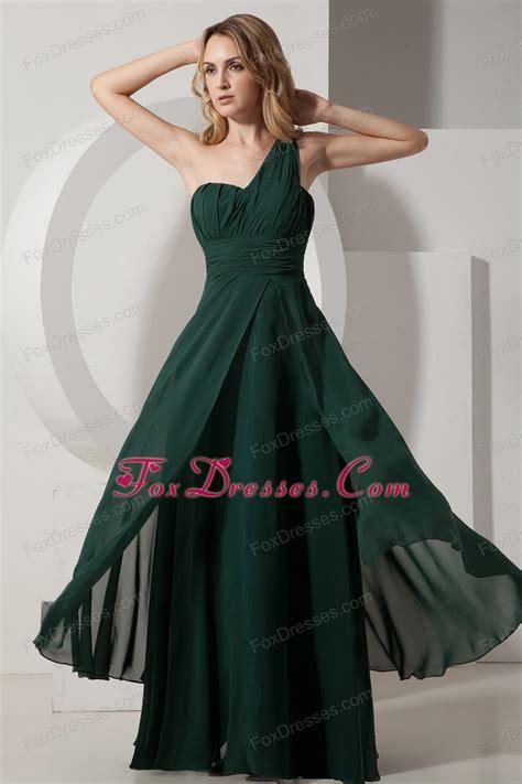 Mackandphil Aline Green Size 23 green a line one shoulder floor length prom dress