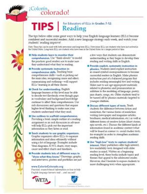 7 Ways To Improve Your Grades In School by Reading Tips For Educators Of Ells In Grades