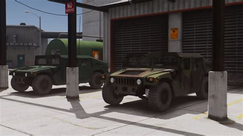 unarmored humvee m1025 hmmwv base spec unarmored add on livery gta5