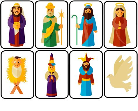printable nativity scene puppets nativity puppets for dramatic play with free printable