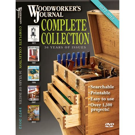 woodworking dvd woodworker s journal complete 1977 2012 collection dvd