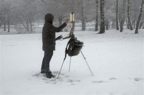 plein air paintings from paint snow hill featured in may winter gear for plein air painting marc dalessio