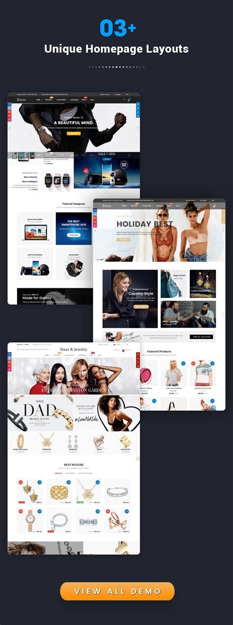 Shopify Advanced Themes | siezz advanced drag drop responsive shopify theme by