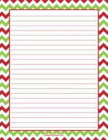 Christmas Writing Paper Templates Printable Christmas Chevron Stationery And Writing Paper