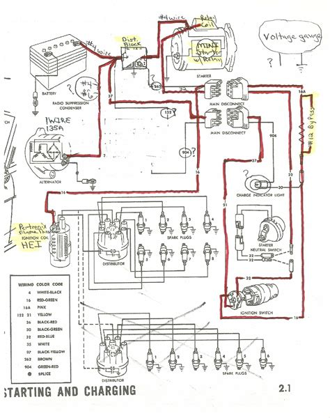 1965 Alternator Starter And Distributor Wiring Ford