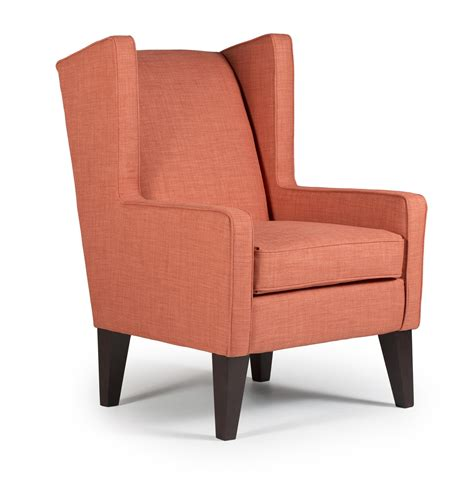 modern wingback karla modern wing chair by best home furnishings wolf