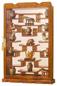 Home Wall Display by Rosewood Wall Curio Display Cabinet Asian Home Decor