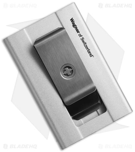 wagner slim swiss wallet money clip silver sw 705