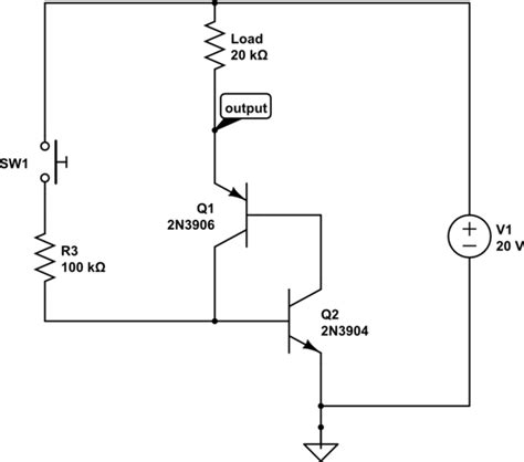 d882 transistor circuit basic transistor toggle not working electrical engineering stack exchange