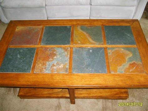 coffee table with tile inlay wood coffee table with tile inlay city